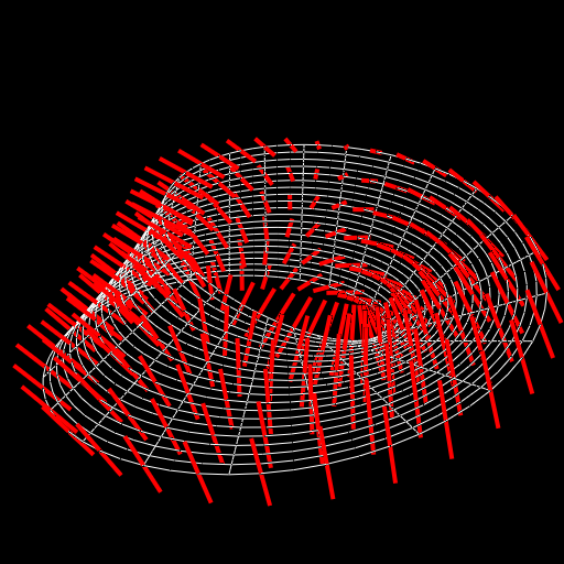 A 'normal direction field' of a