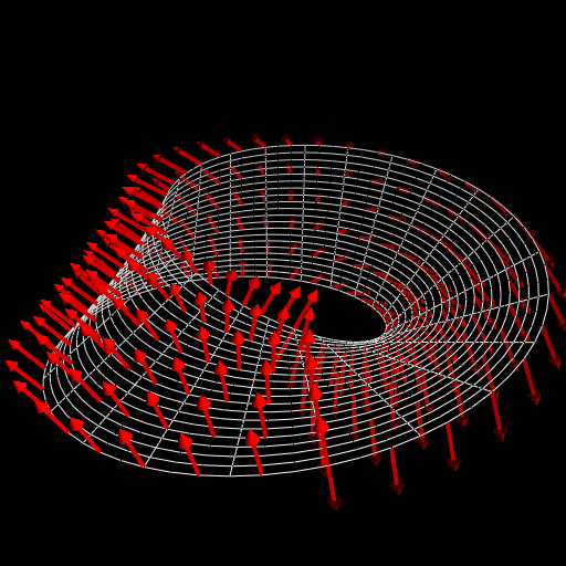 A 'normal vector field' of a