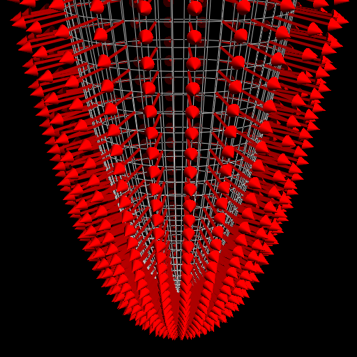 The normal vector field of an elliptic paraboloid